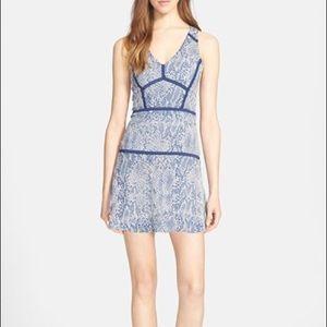 COPY - Parker blue snakeskin print dress